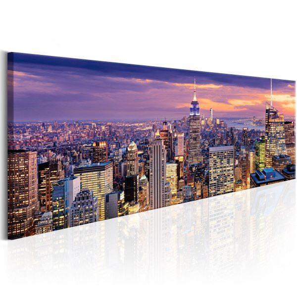Canvas Tavla - City Awakening - 120x40