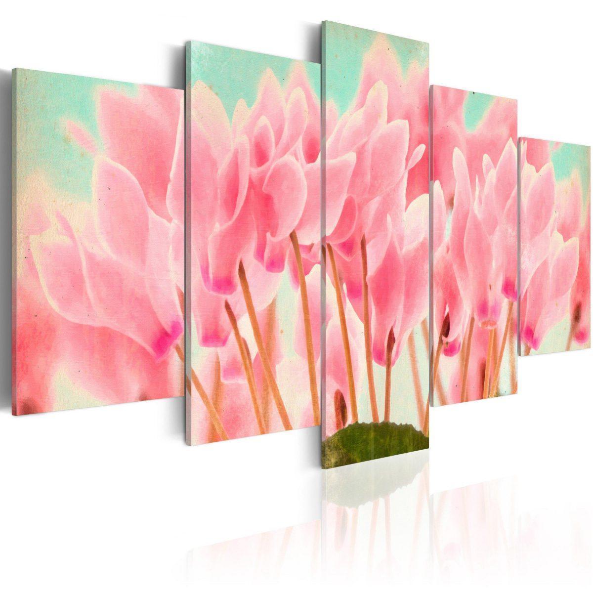 Canvas Tavla - Cyclamen - 100x50