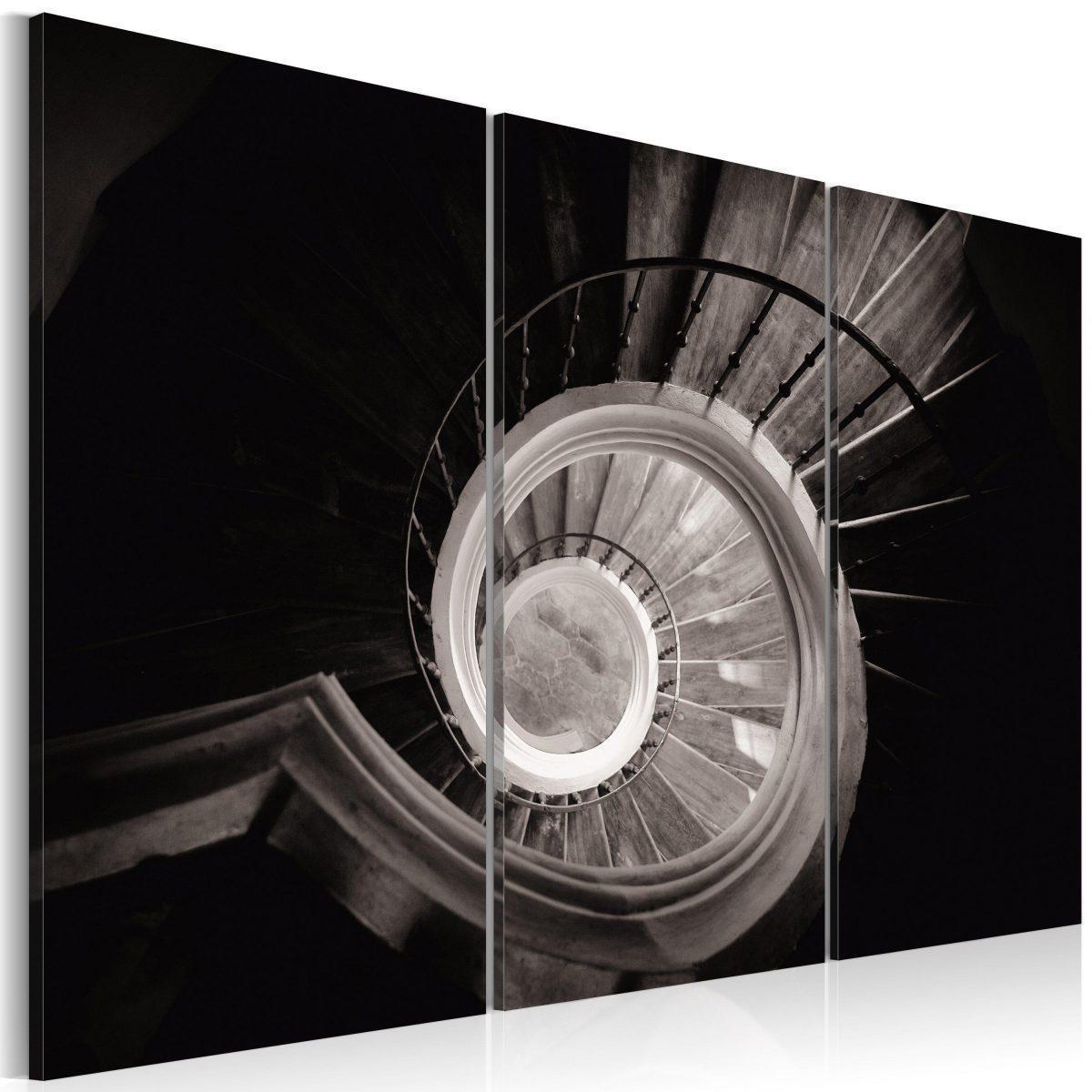 Canvas Tavla - Down a spiral staircase - 120x80