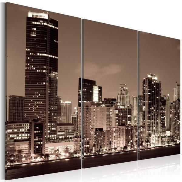 Canvas Tavla - Evening in Miami - 90x60