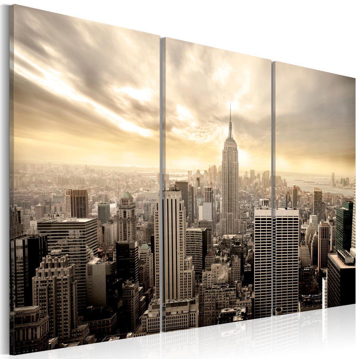 Canvas Tavla - Evening in New York - 120x80