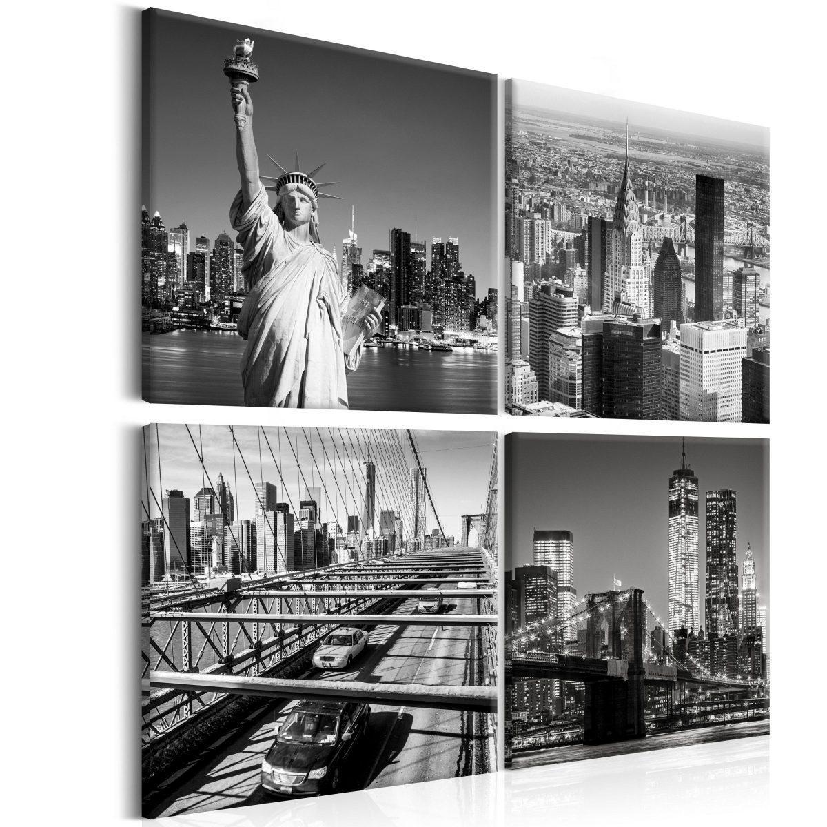 Canvas Tavla - Faces of New York - 40x40