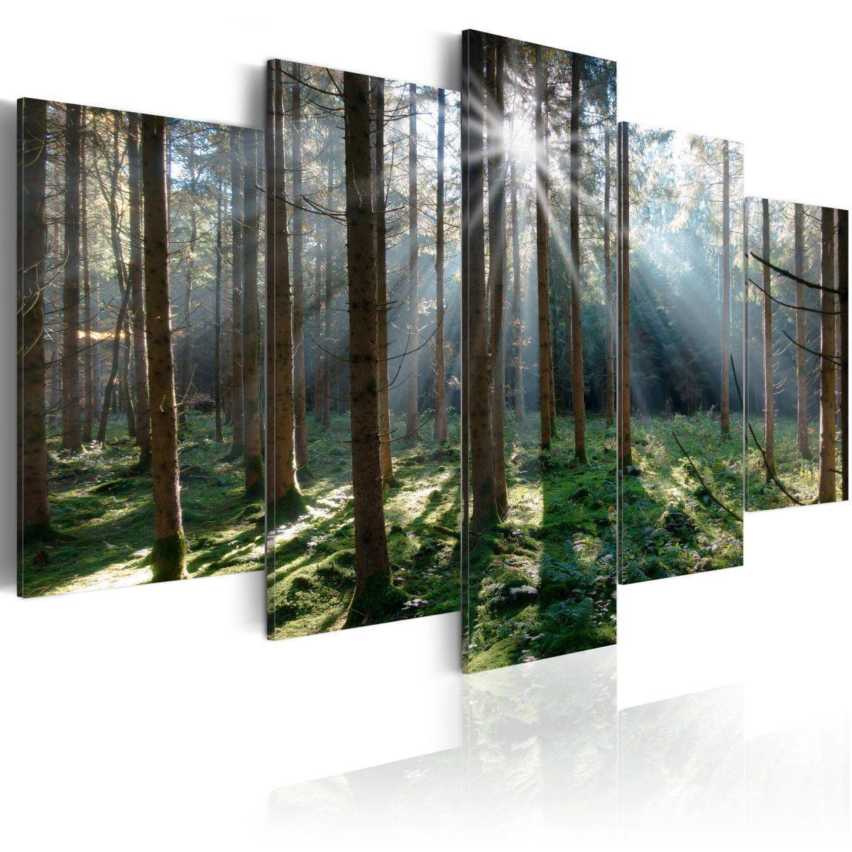 Canvas Tavla - Fairytale Forest - 200x100