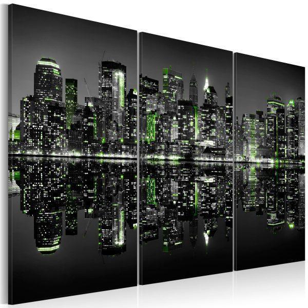 Canvas Tavla - Green New York - 90x60