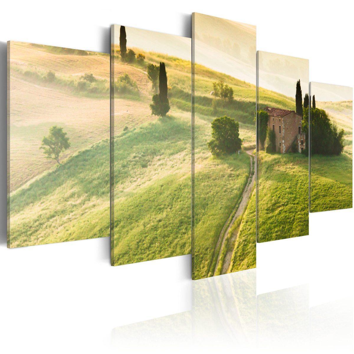 Canvas Tavla - Green Tuscany - 100x50