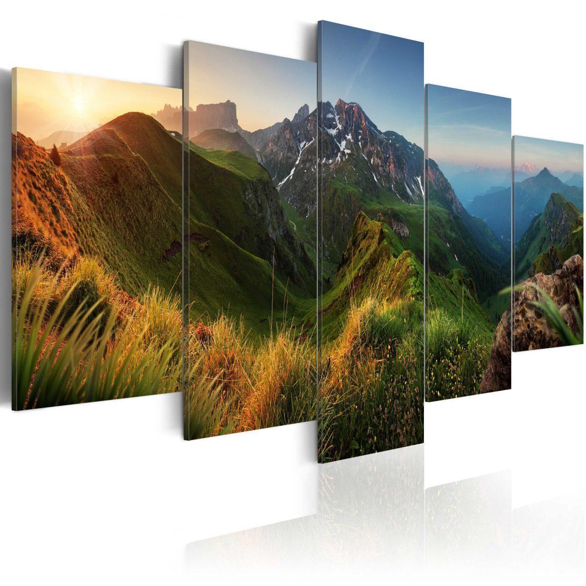 Canvas Tavla - Green Valley - 100x50