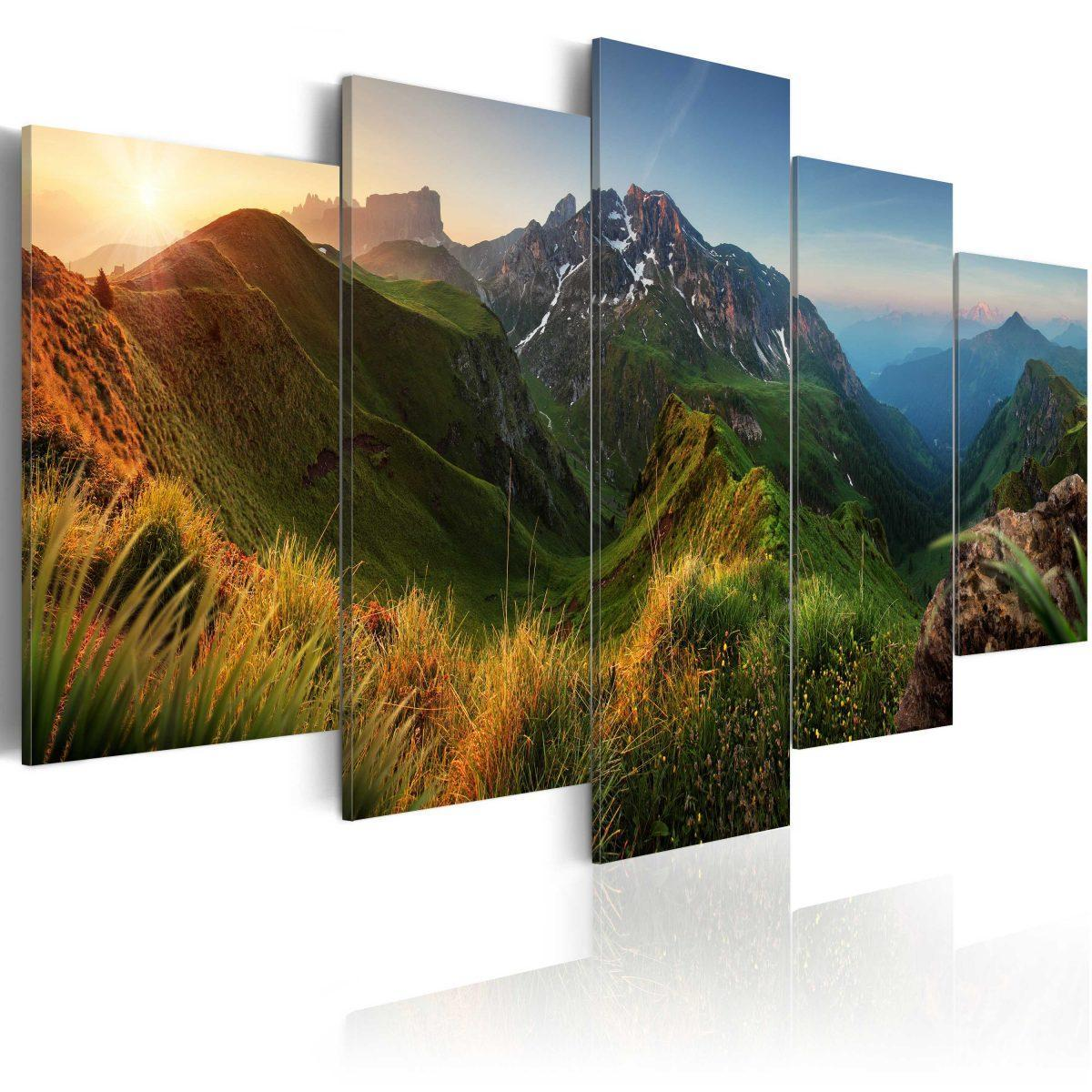 Canvas Tavla - Green Valley - 200x100