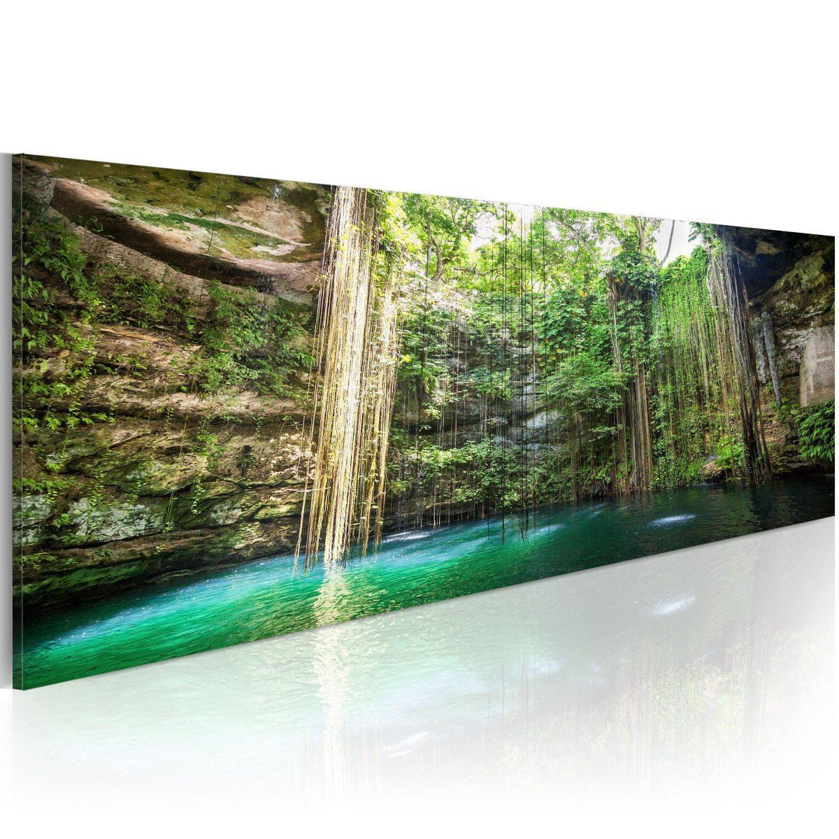 Canvas Tavla - Hidden Treasure of the Nature - 135x45