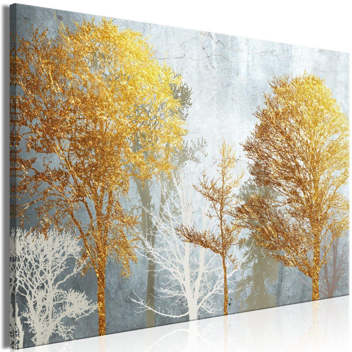 Canvas Tavla - Hoarfrost and Gold