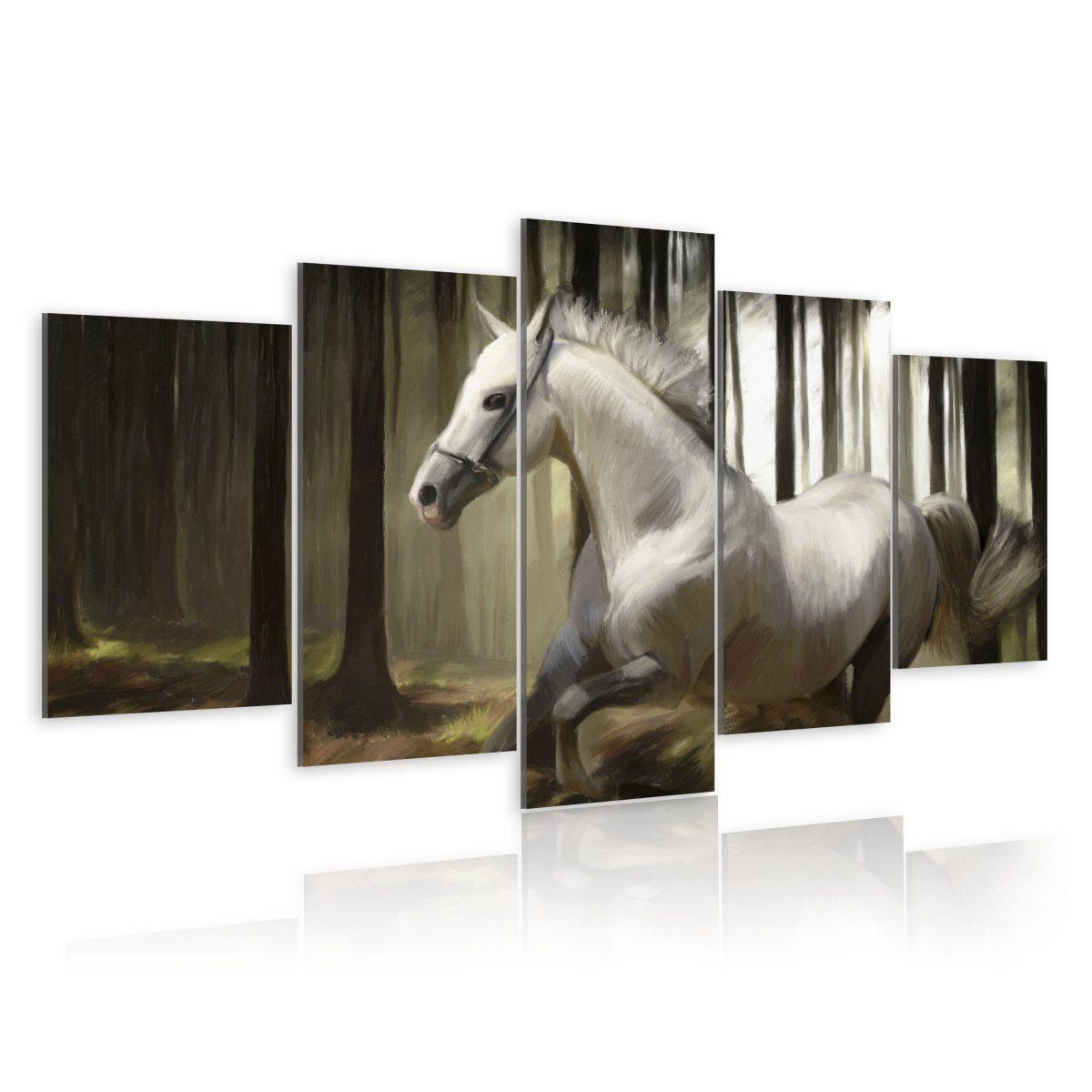 Canvas Tavla - Horse running - 200x100