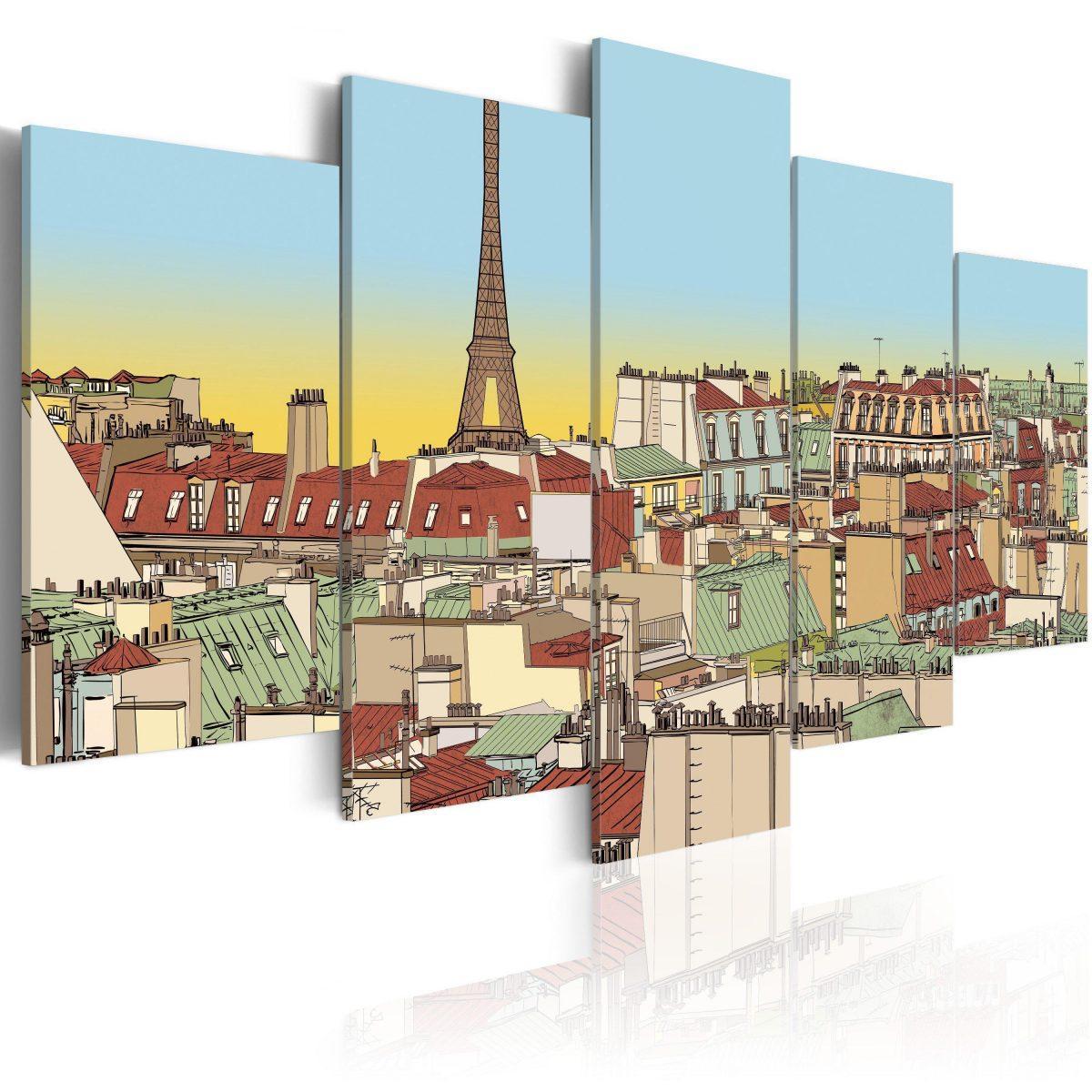 Canvas Tavla - Idyllic parisian picture - 100x50