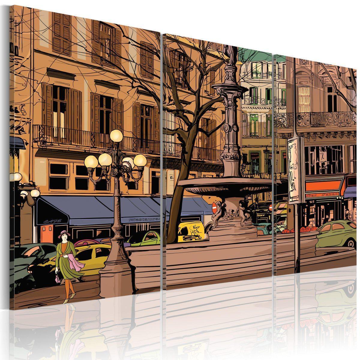 Canvas Tavla - Lugn kväll i Paris - 90x60
