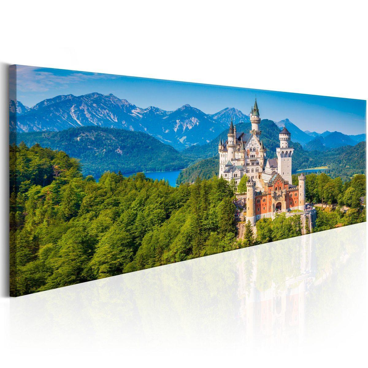 Canvas Tavla - Magic Places: Neuschwanstein Castle - 150x50