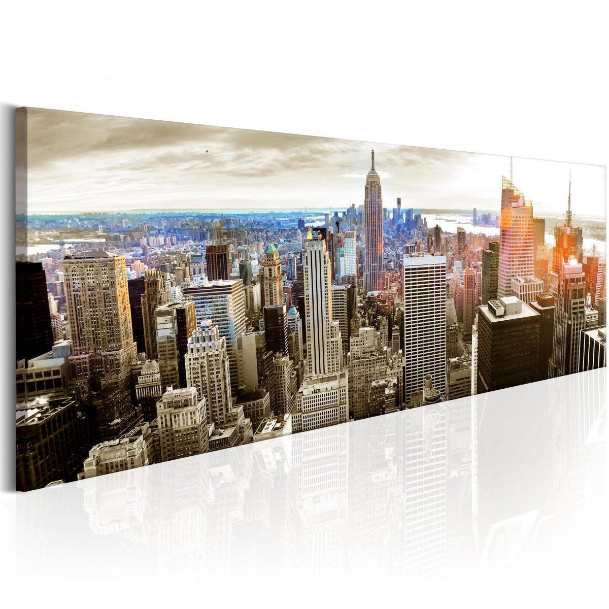 Canvas Tavla - Manhattan: Island for Rich - 150x50