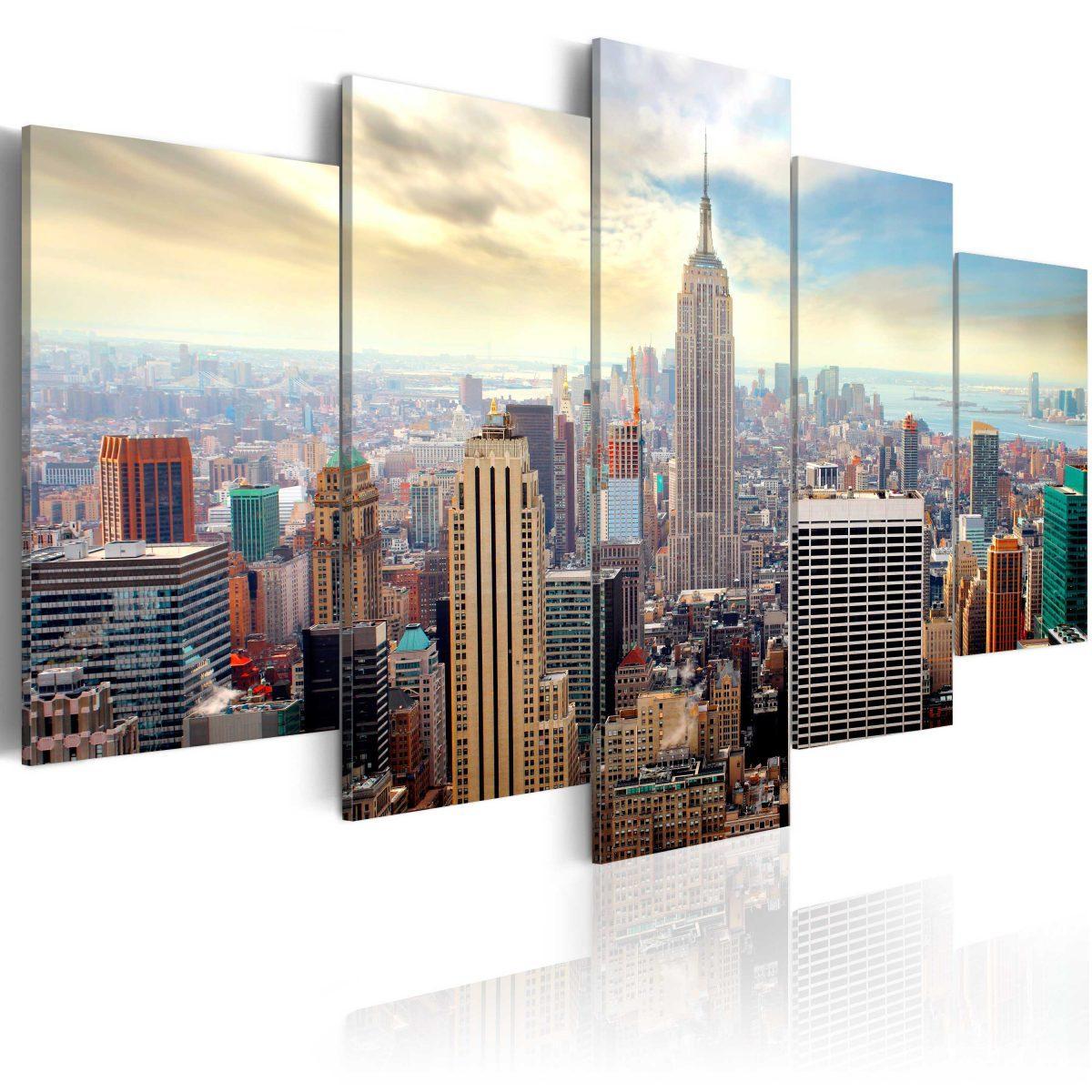 Canvas Tavla - Morning in New York City - 200x100