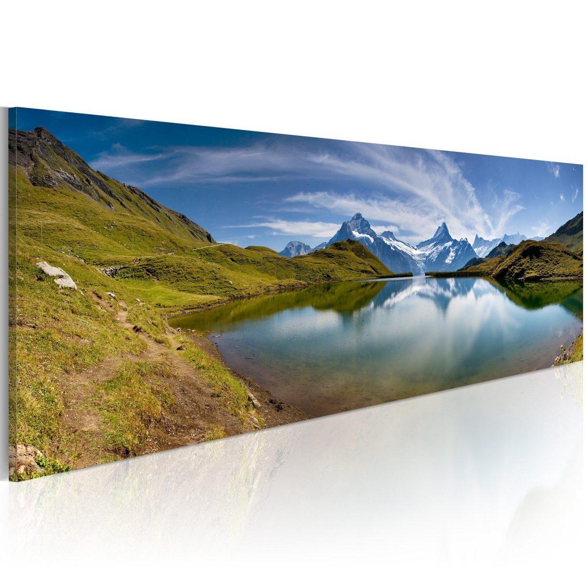 Canvas Tavla - Mountain lake - 135x45