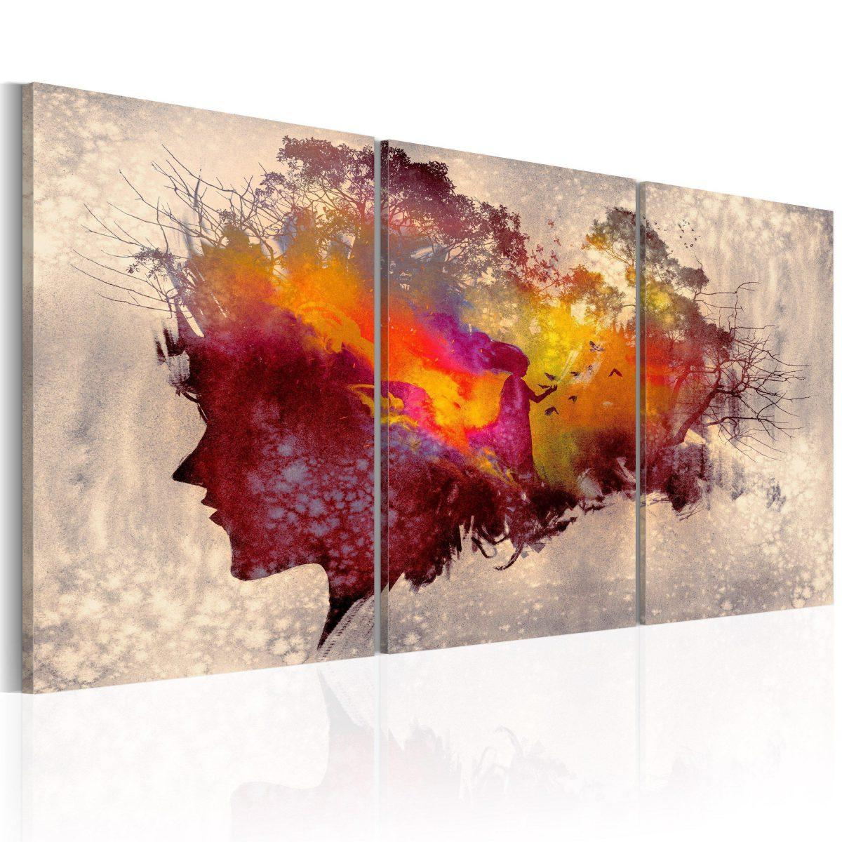 Canvas Tavla - Mysteries of the Forest - 120x60