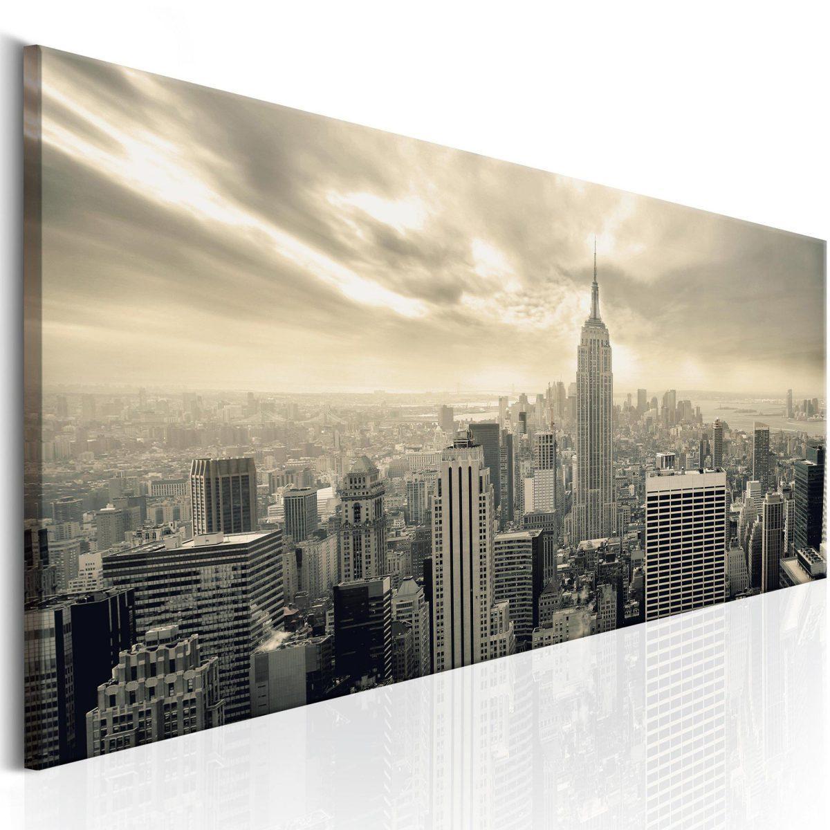 Canvas Tavla - NY: Morning Sky - 150x50