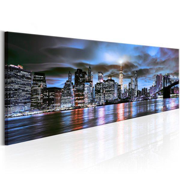Canvas Tavla - NYC: City Lighthouse - 120x40