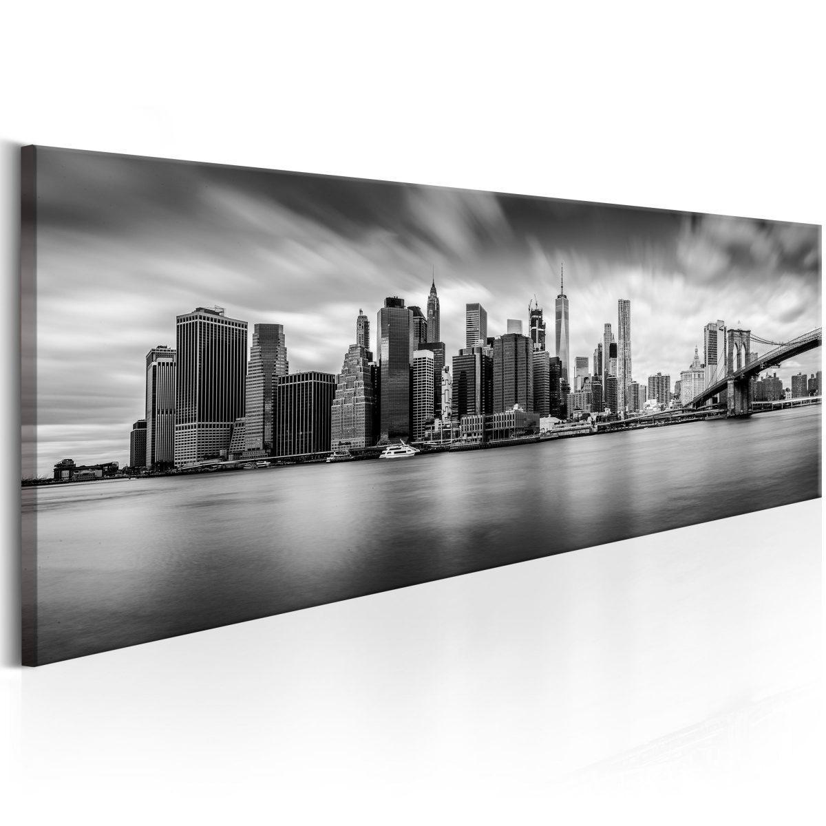 Canvas Tavla - New York: Stylish City - 135x45