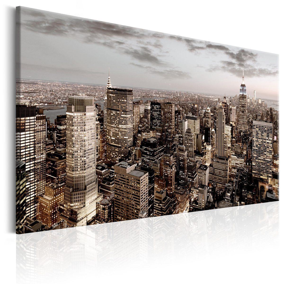Canvas Tavla - New York at Dawn - 60x40