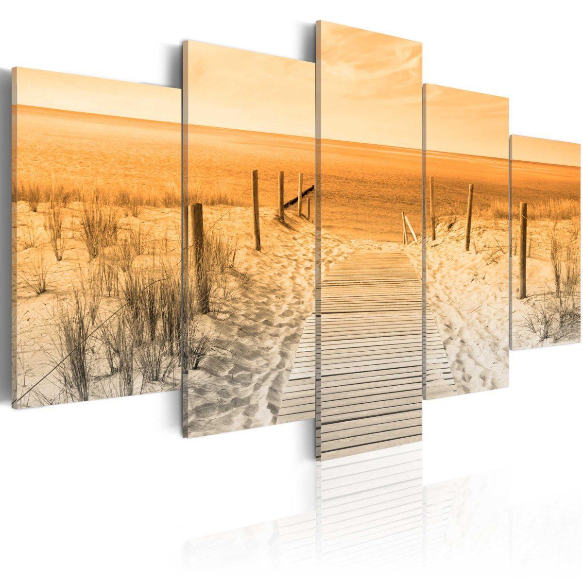 Canvas Tavla - Orange Beach - 200x100