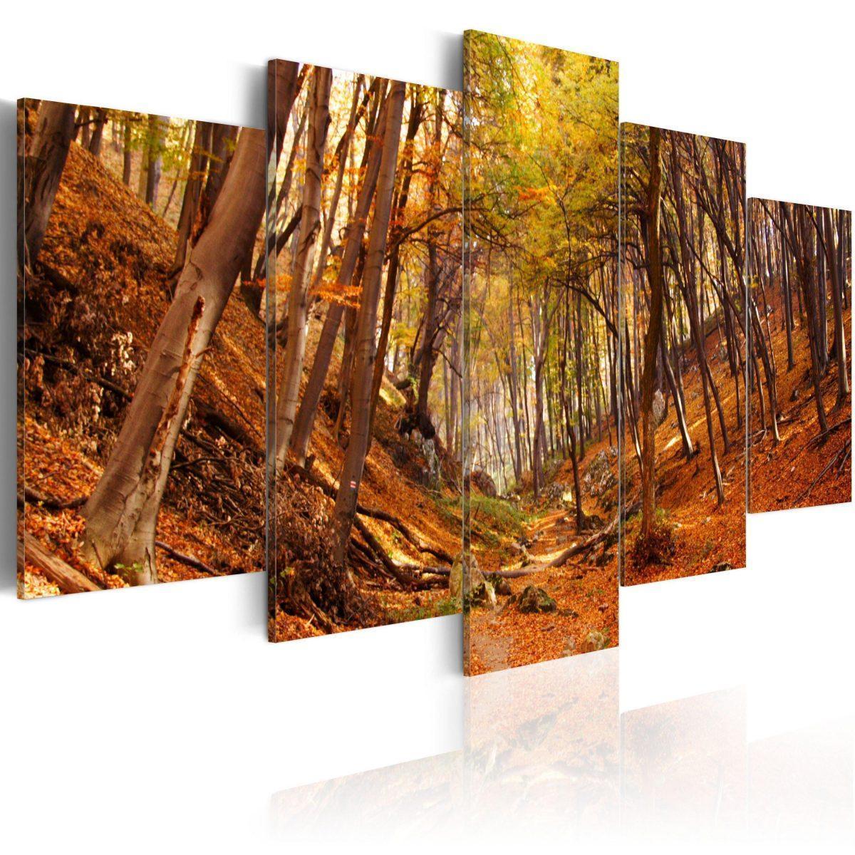 Canvas Tavla - Orange autumn - 100x50