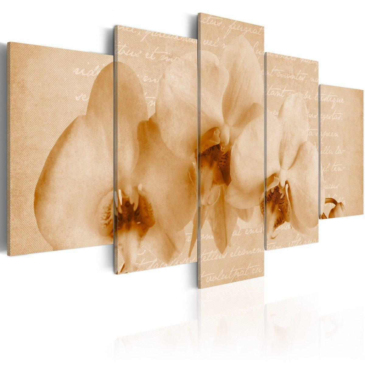Canvas Tavla - Orkidéer - 200x100