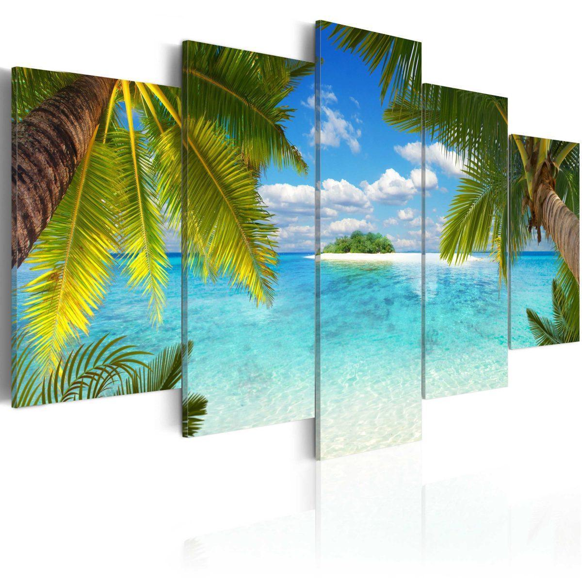 Canvas Tavla - Paradise island - 200x100