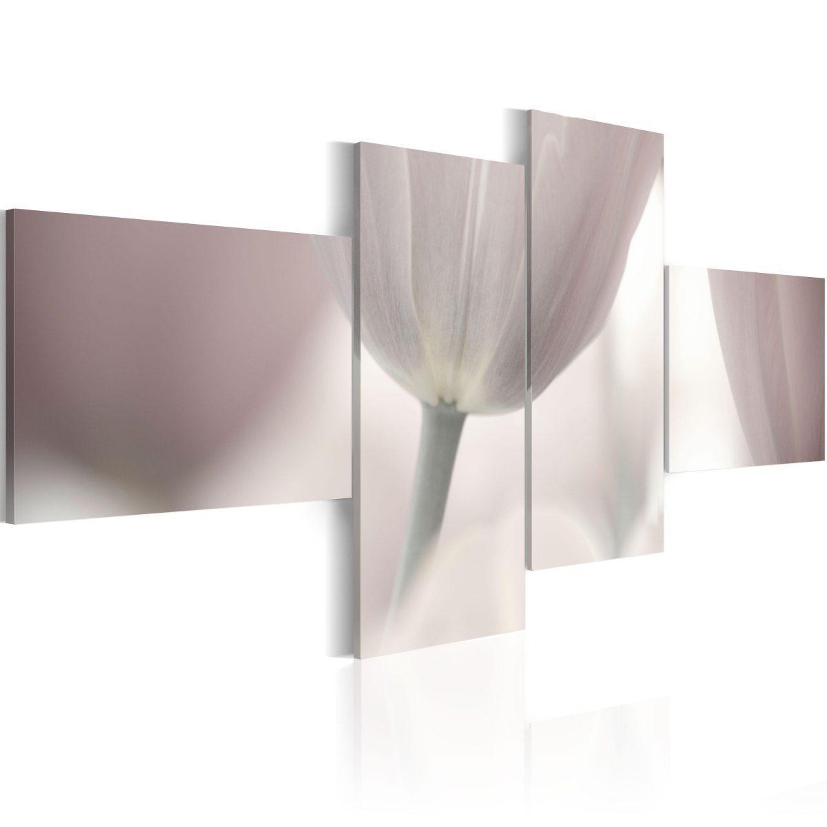 Canvas Tavla - Pastel colored tulip - 100x45