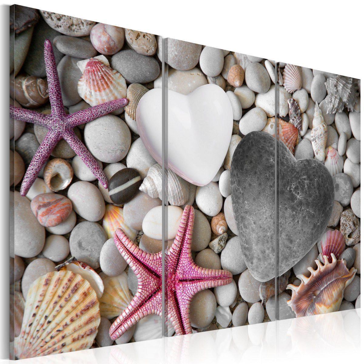 Canvas Tavla - Pebbles of love - 60x40