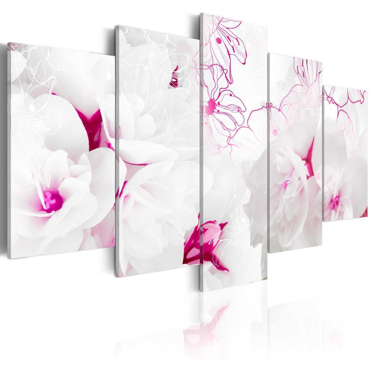 Canvas Tavla - Pink gossamer - 200x100