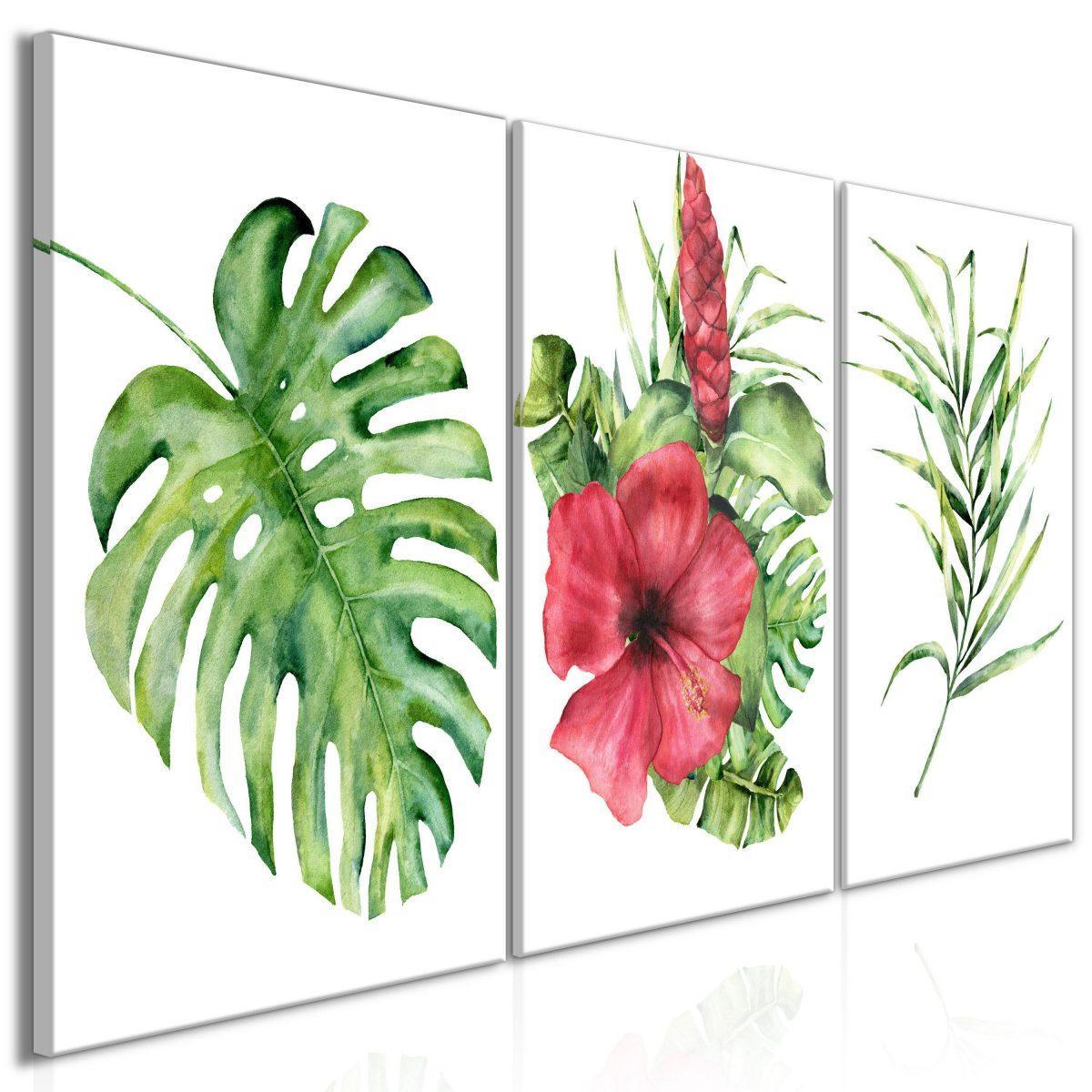 Canvas Tavla - Red Hibiscus