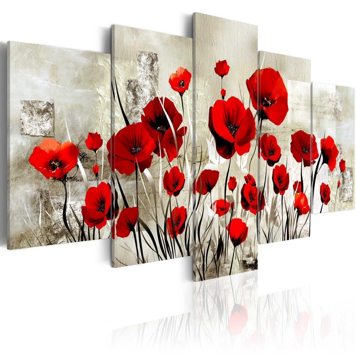 Canvas Tavla - Scarlet Field - 200x100