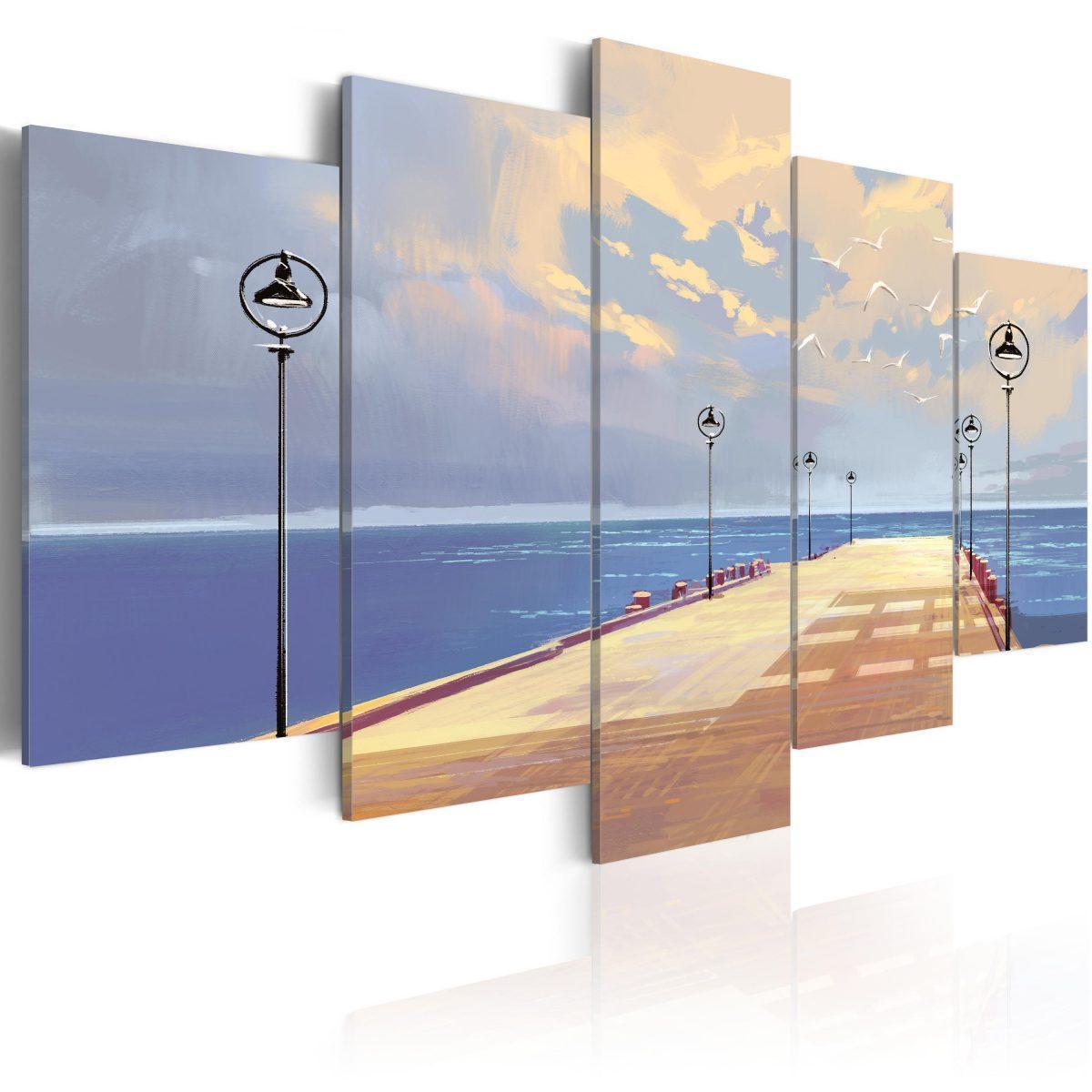 Canvas Tavla - Seaside Walk - 200x100