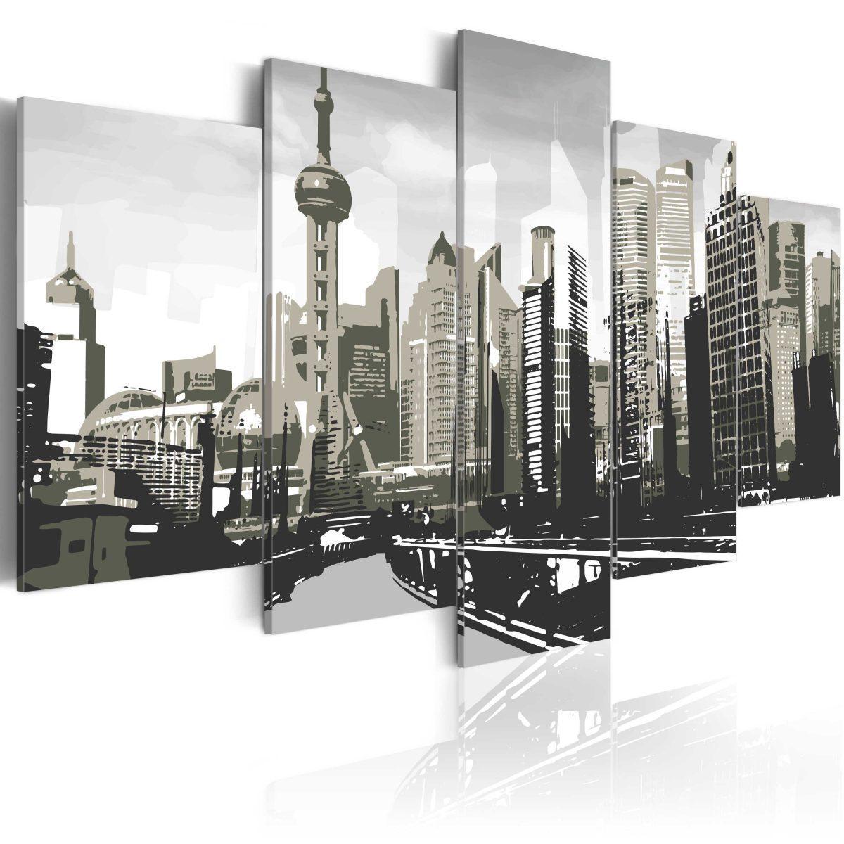 Canvas Tavla - Shanghai, China's largest city - 200x100