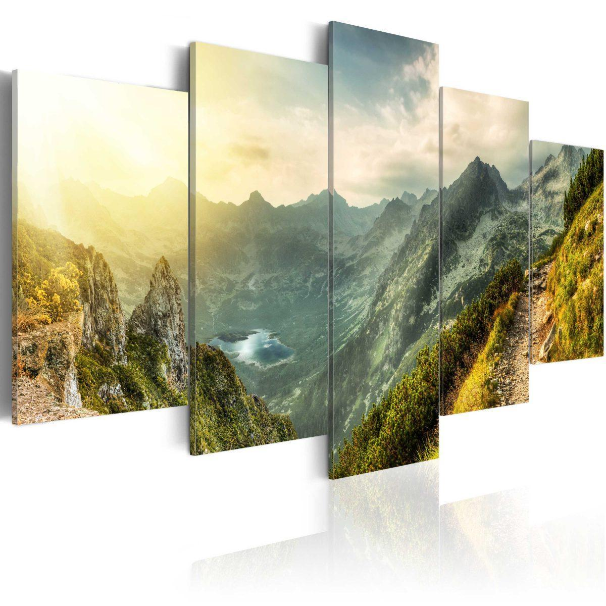Canvas Tavla - Slovak mountain landscape - 100x50