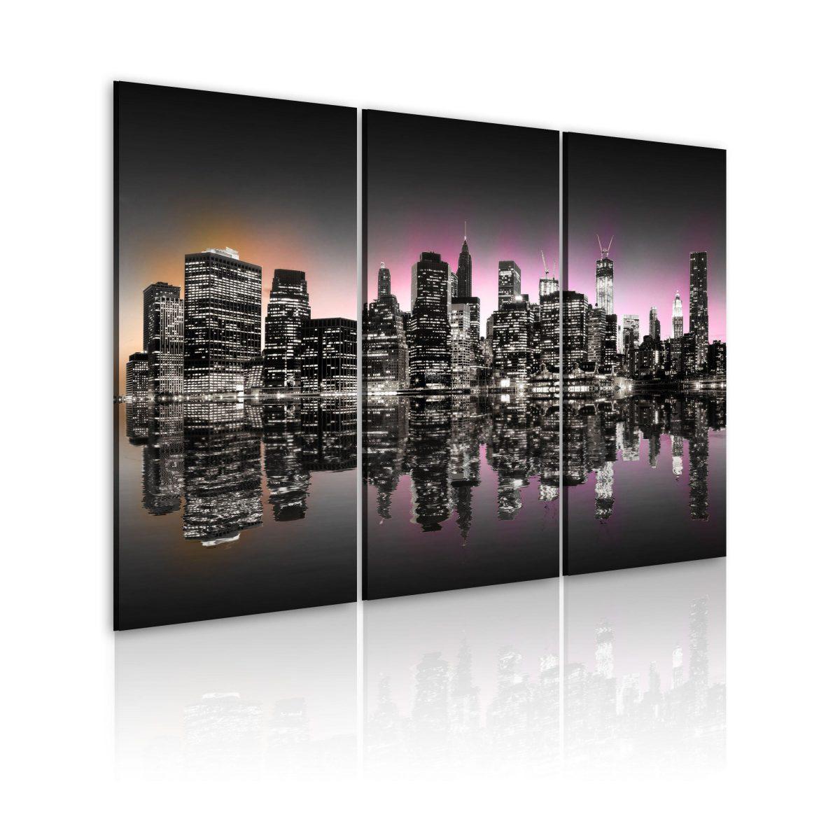 Canvas Tavla - Staden som aldrig sover - New York - 120x80
