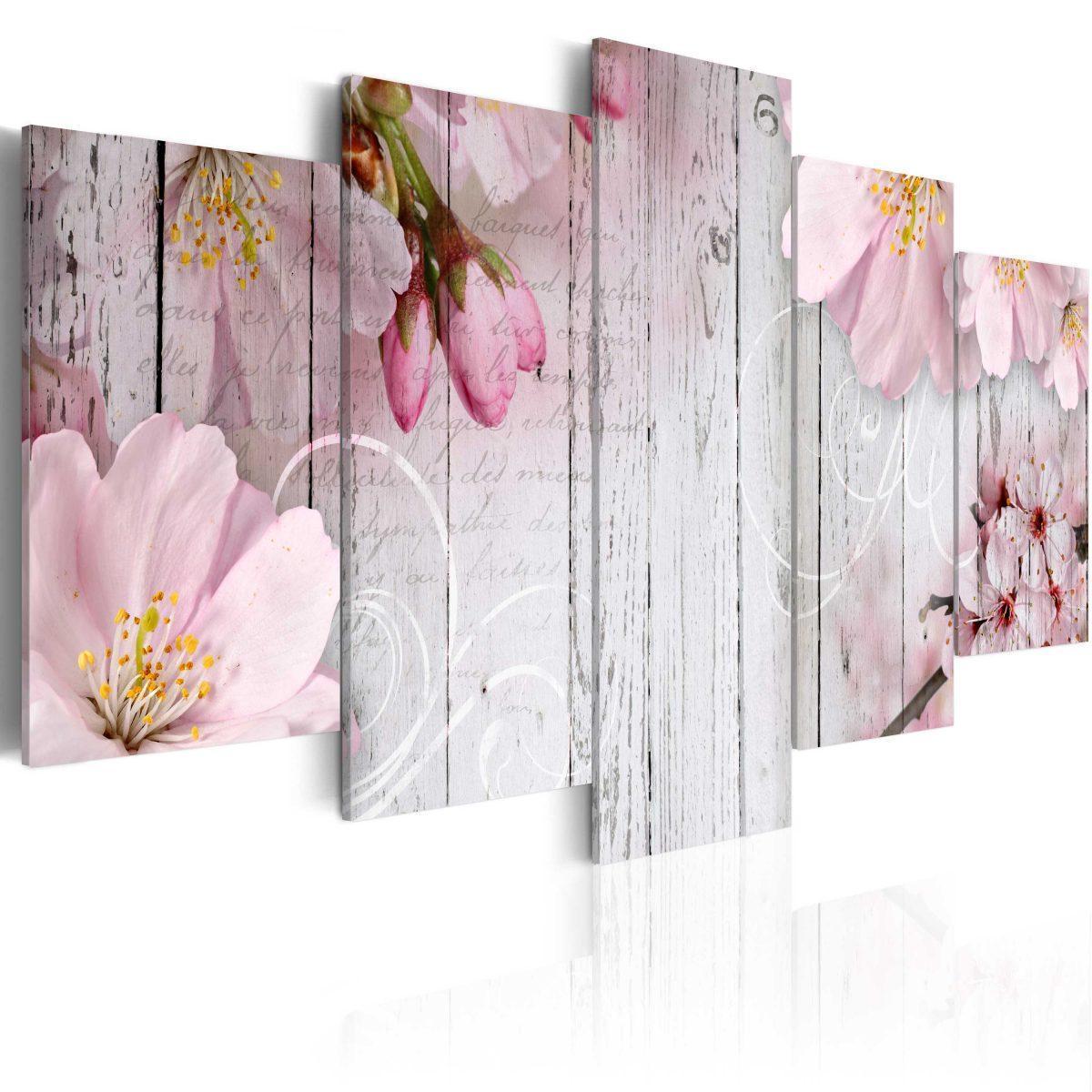 Canvas Tavla - Subtlety of Flowers - 100x50