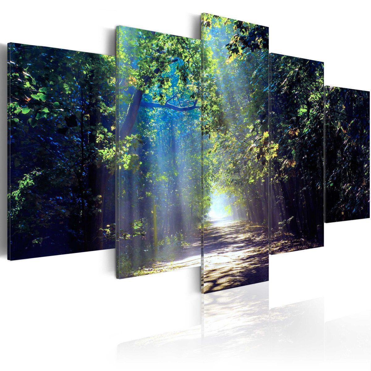 Canvas Tavla - Sunny Forest Path - 100x50