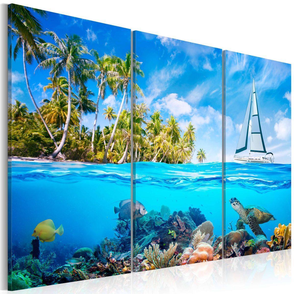 Canvas Tavla - Sunny holidays - 120x80