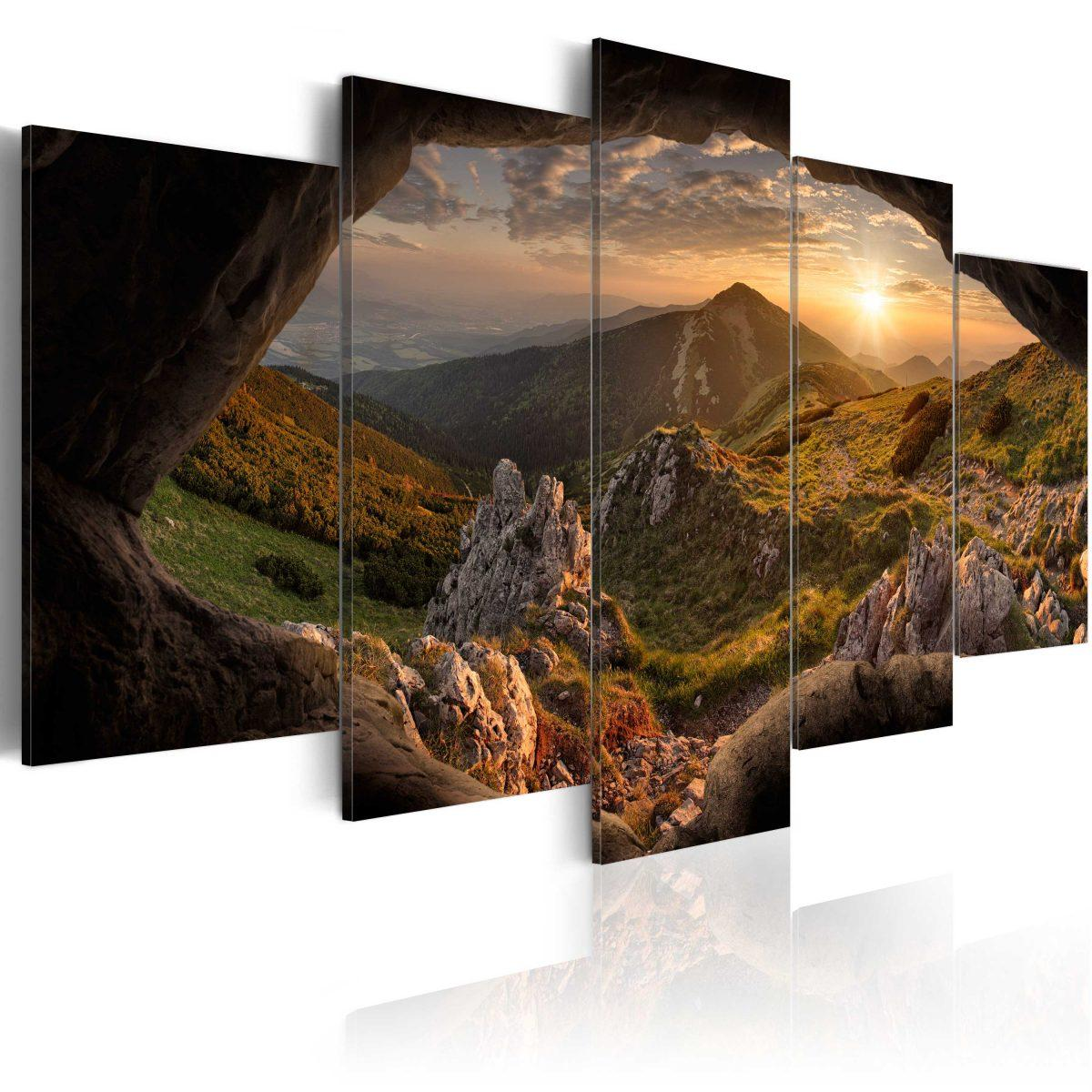 Canvas Tavla - Sunset in the Valley - 100x50