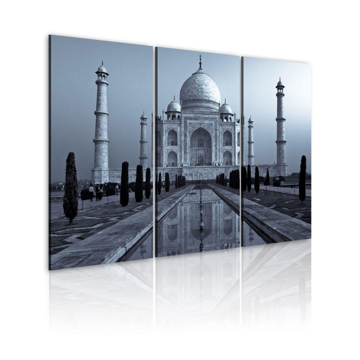 Canvas Tavla - Taj Mahaj by night, India - 60x40