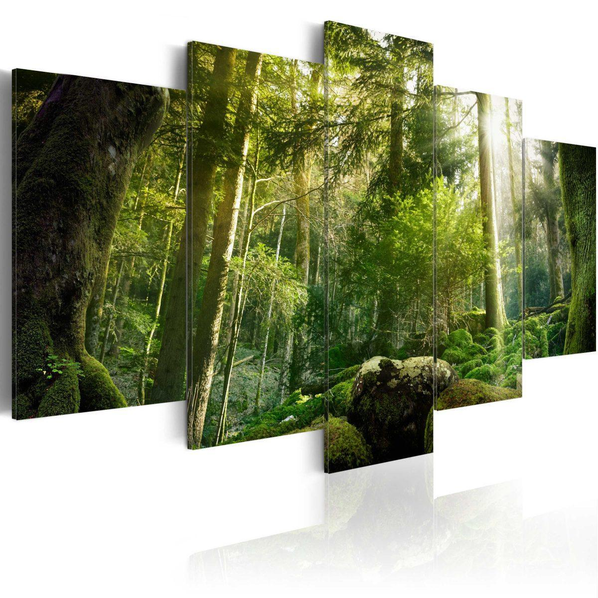 Canvas Tavla - The Beauty of the Forest - 200x100