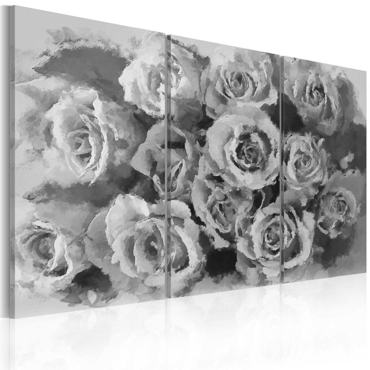 Canvas Tavla - Tolv roses - triptych - 90x60