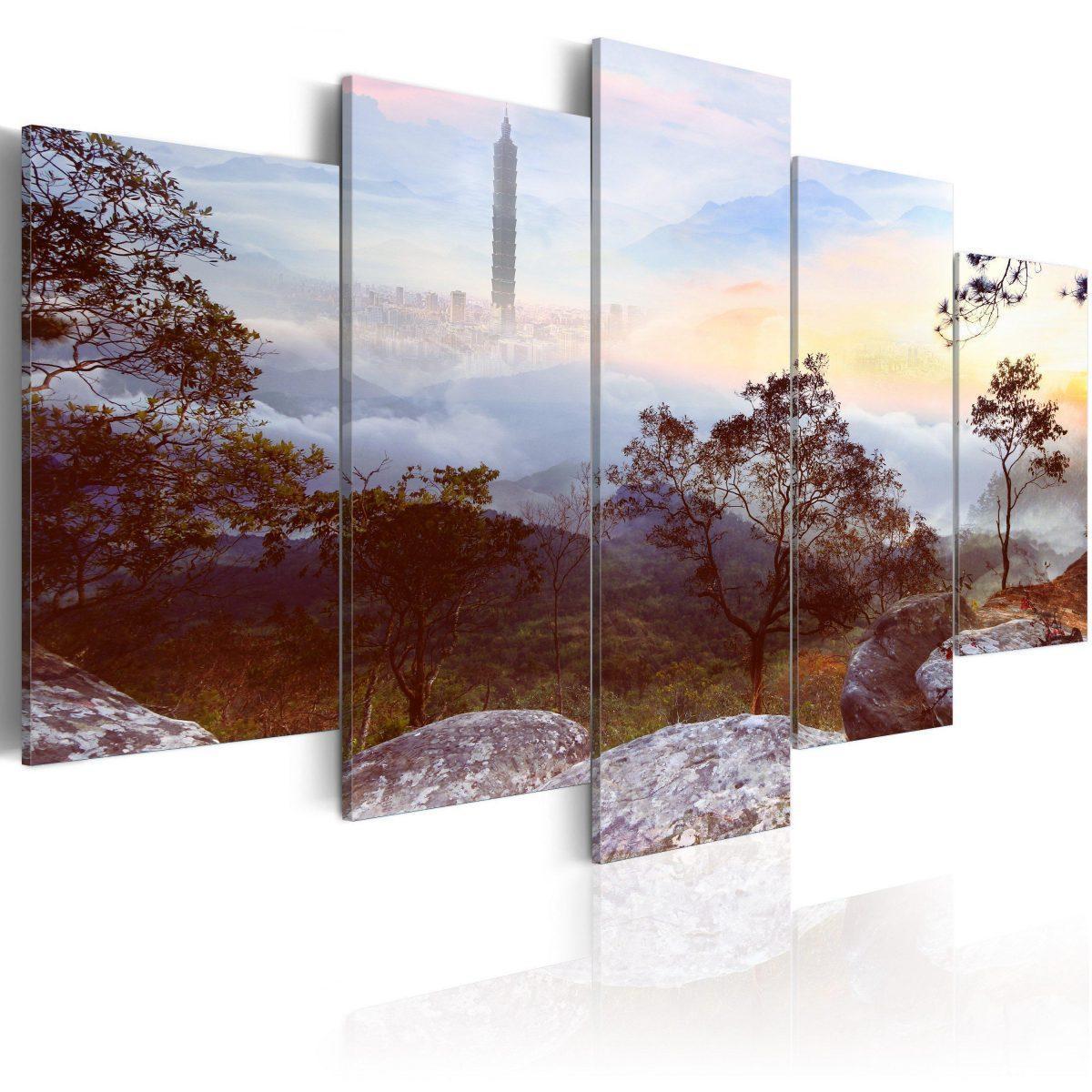 Canvas Tavla - Tower and horizon - 200x100