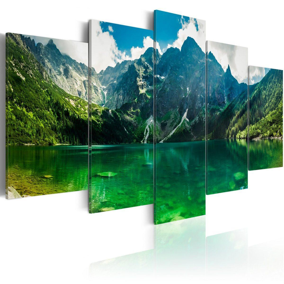 Canvas Tavla - Tranquility in the mountains - 100x50