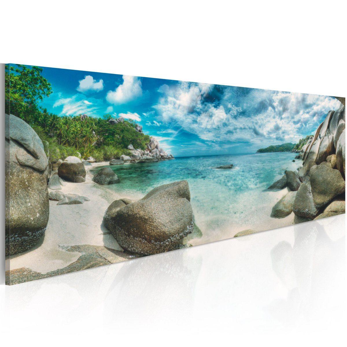 Canvas Tavla - Turquoise Paradise - 135x45