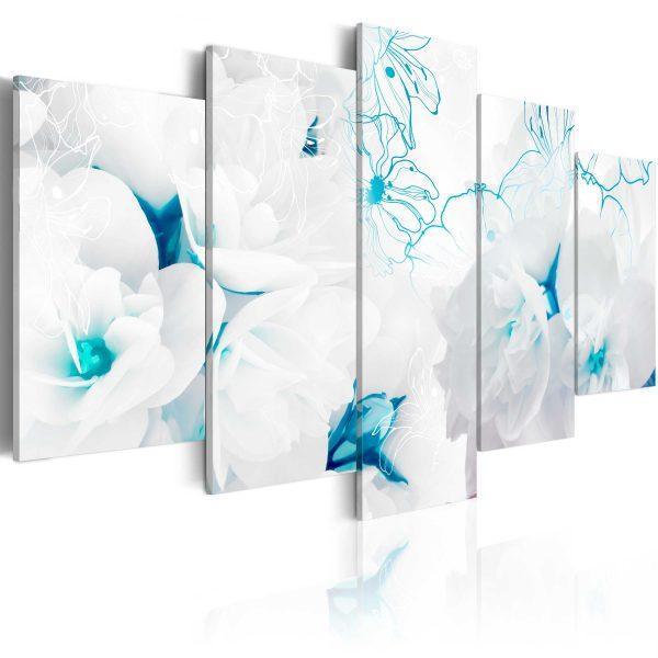 Canvas Tavla - Turquoise threads - 100x50