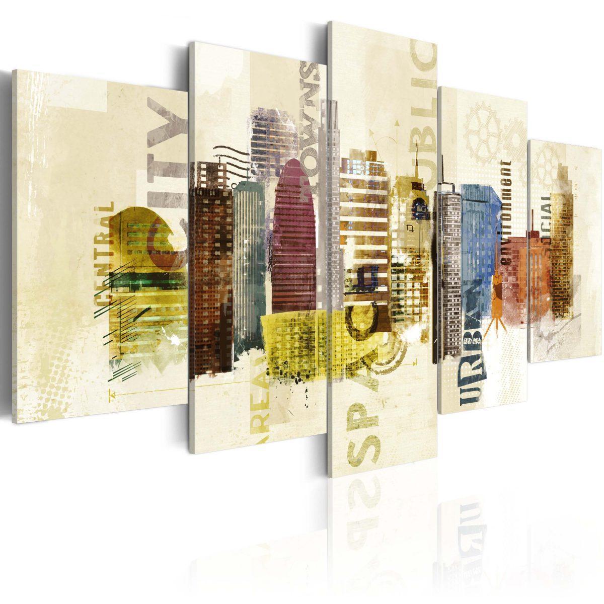 Canvas Tavla - Urban design